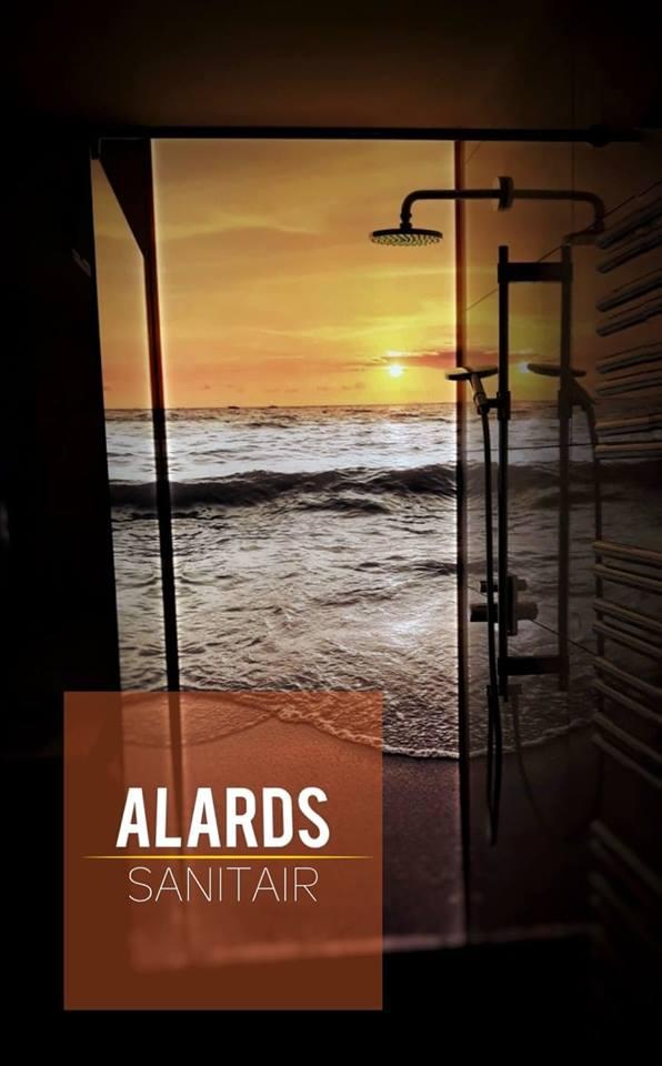 Alards douche wand strand